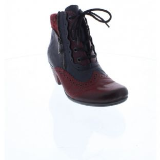Rieker Y7211-35 Ladies Red & Blue Combination Boots